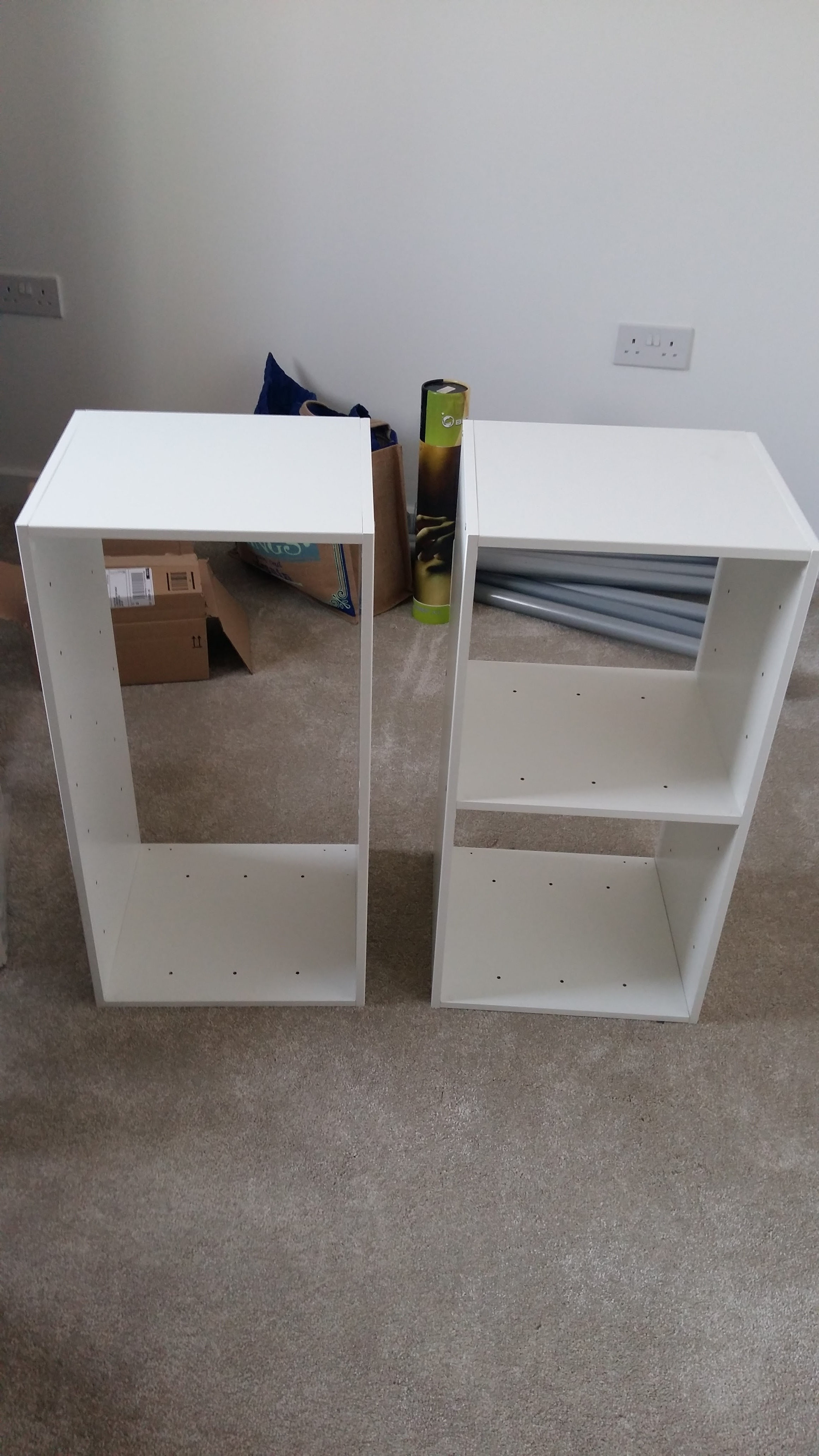 The two built cabinets